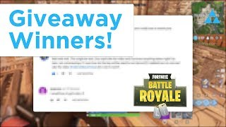 And these are the 3 winners... Fortnite Hack Giveaway Winners!