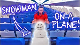 I Built a SNOWMAN on an AIRPLANE!! | THE LIFE OF A FLIGHT ATTENDANT Ep.32 | VLOGMAS DAY 24