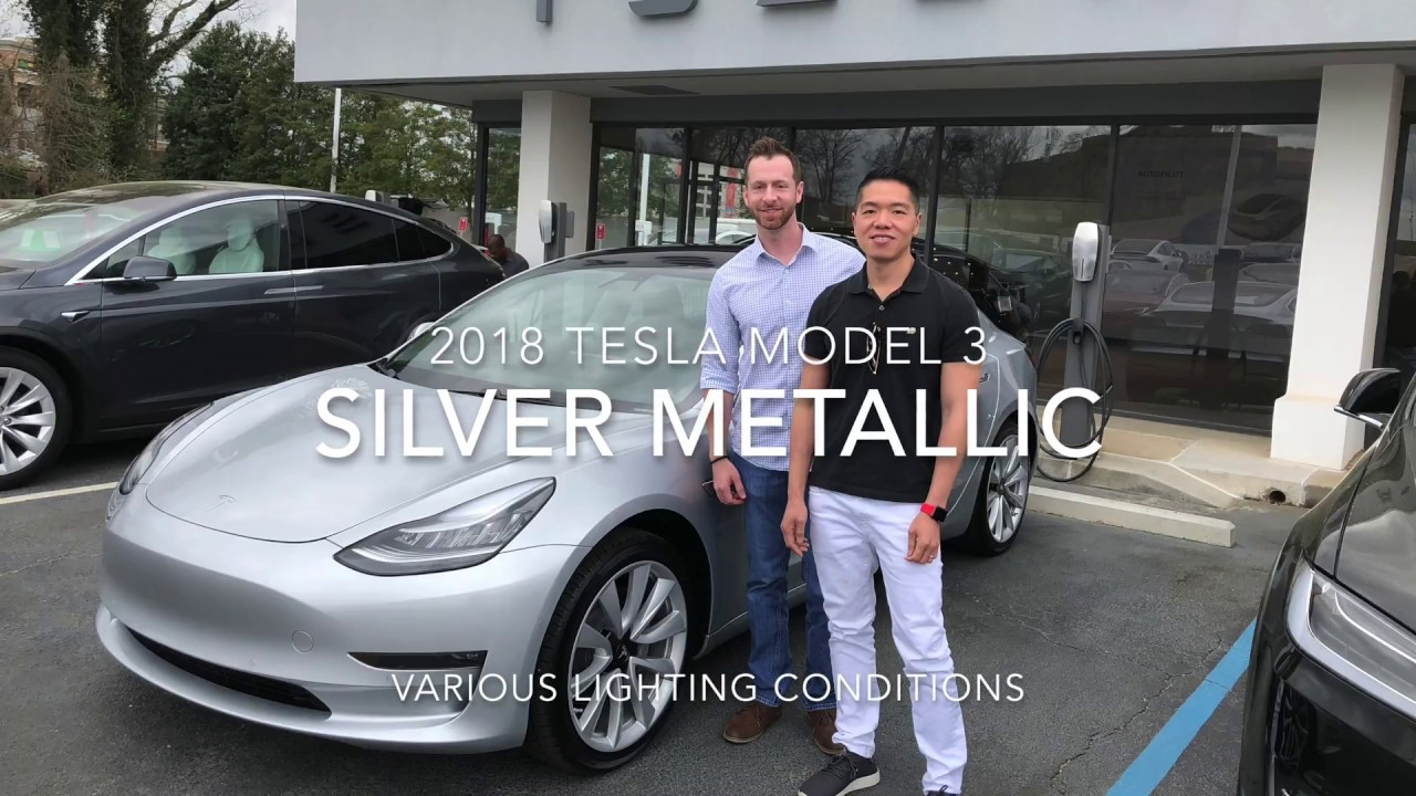 2018 Silver Metallic Tesla Model 3