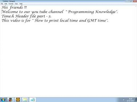 Time.h header file || part 5 || how to print local time and GMT time