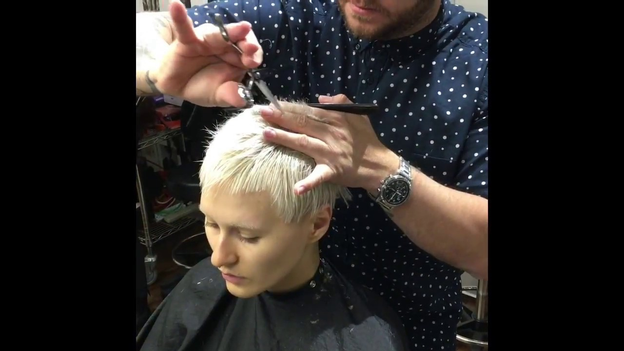 Short Haircut Tutorial Androgynous Look Youtube