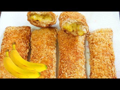 CRUNCHY BANANA PIE RECIPE   HOW TO MAKE BANANA BREAD PIE   BANANA PIE QUICK & EAST RECIPE
