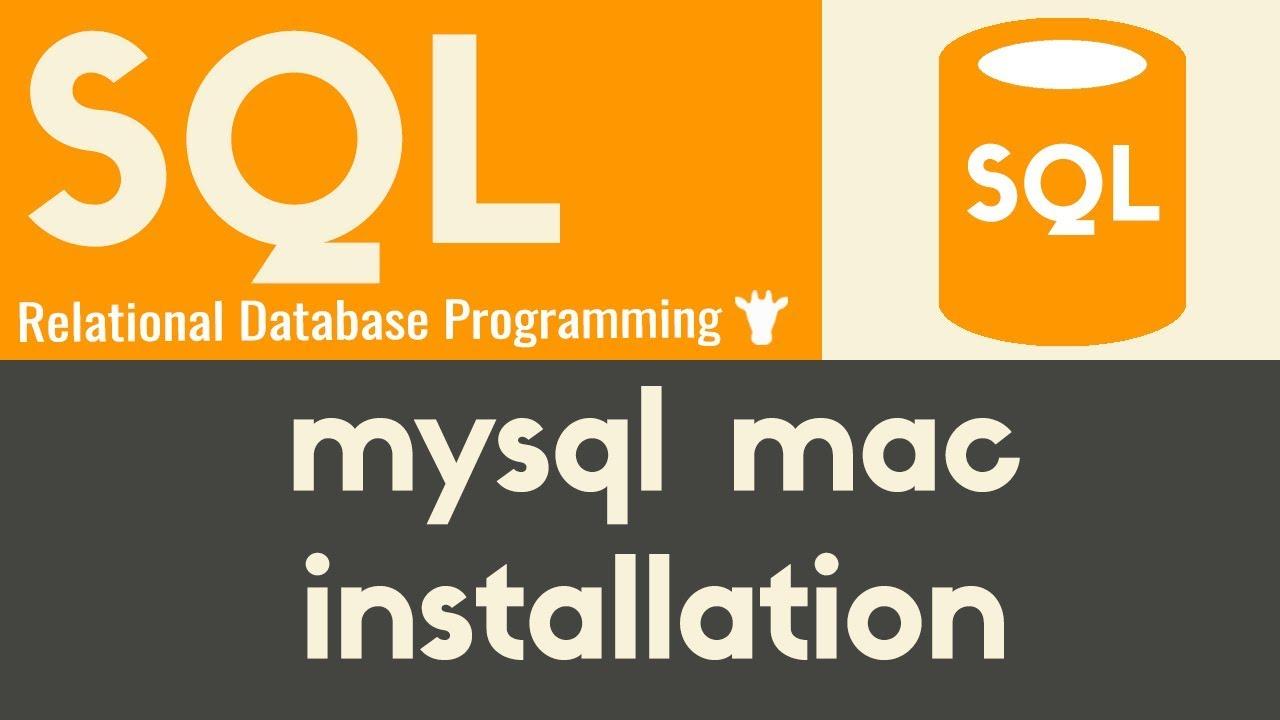 Mysql Mac Installation | SQL | Mike Dane