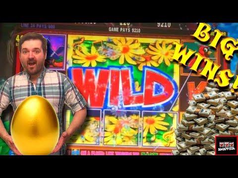 HUGE WIN!!! LIVE PLAY and Bonus on Song Birds Slot Machine