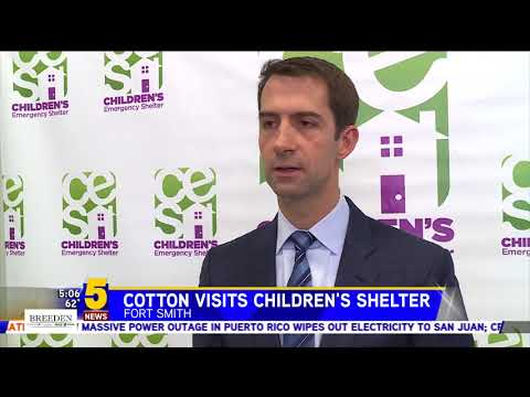 November 10, 2017: Sen. Cotton joins 5 News in Fort Smith