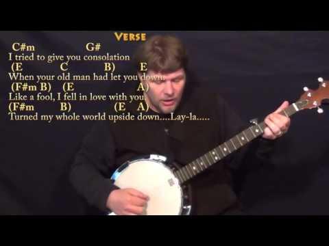 Layla (Clapton) Banjo Cover Lesson with Chords/Lyrics - YouTube