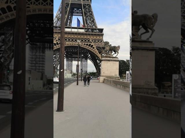 パリの外出制限 5月20日エッフェル塔付近