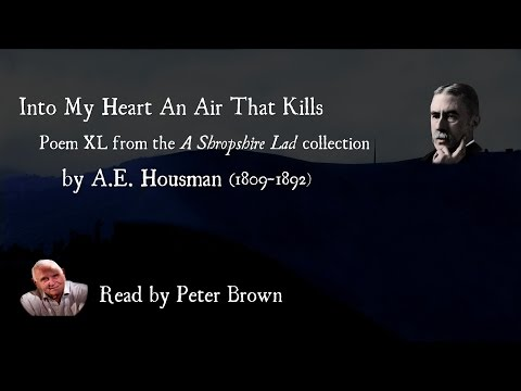 A Shropshire Lad: (XL) Into My Heart An Air That Kills By AE Housman | Poetry Reading | #27