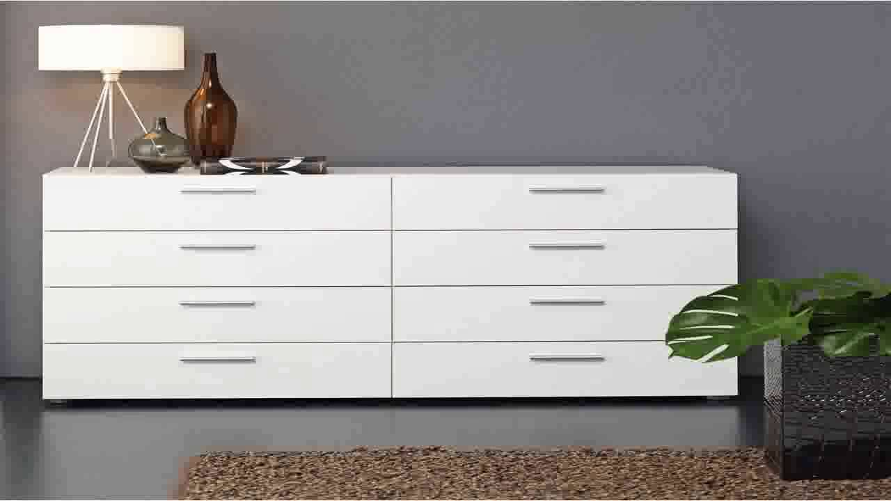 Tvilum Austin 8 Drawer Dresser White Youtube