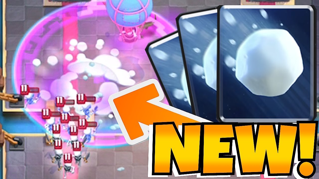 """NEW GIANT SNOW BALL CARD!! """"Clash Royale"""" BETTER THAN FIRE!?!"""