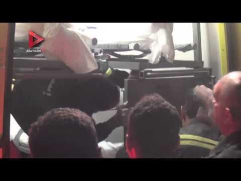 جثث ضحايا حادث البحر الأحمر داخل سيارات الإسعاف
