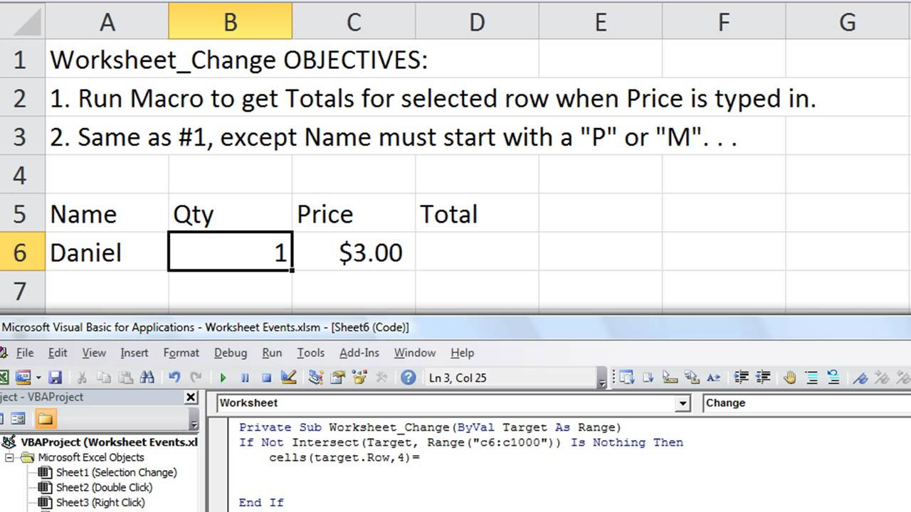 Excel Worksheet Events 2 Macro When You Change A Cells Value Left And Ucase Functions Youtube