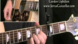 How To Play Gordon Lightfoot Early Morning Rain (full lesson)
