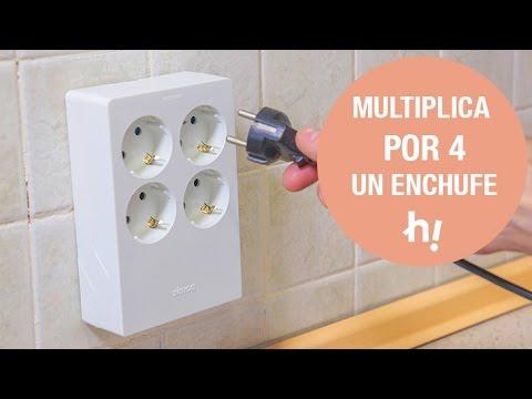 C mo instalar una base m ltiple de enchufes sin agujeros for Como instalar un enchufe