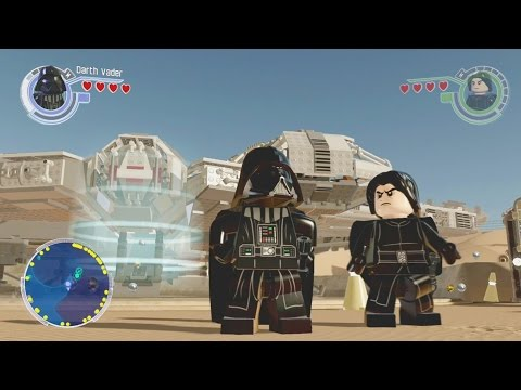 LEGO Star Wars The Force Awakens 100% Guide - Jakku Hub All Collectibles Guide Part 1