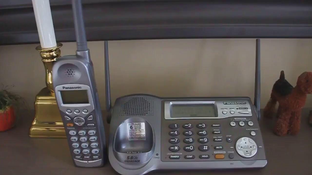 Find Handset Intercom On The Panasonic Kx Tg5100
