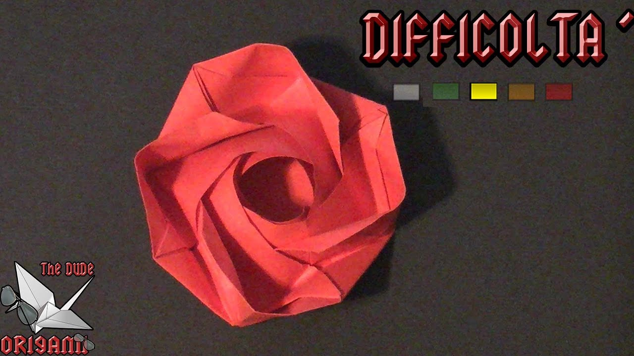 Come fare una rosa in carta | Origami e San Valentino