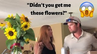 FLOWERS FROM ANOTHER GUY!!! PRANK ON MY BOYFRIEND *He was mad!*
