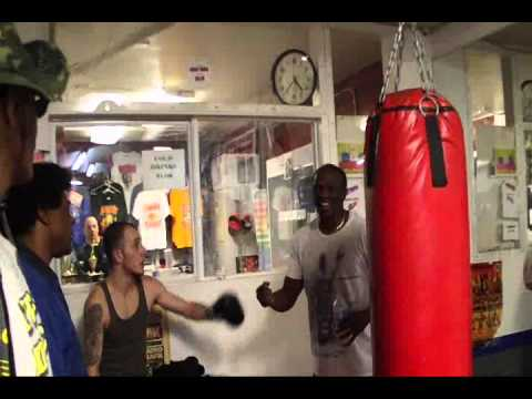 Floyd Mayweather Sr gets sucker punched