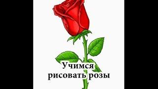 А вы умеете рисовать розы? Как нарисовать розу!!!