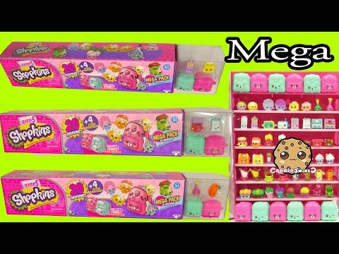 All 3 Shopkins Season 5 Mega 20 Packs Complete Set Unboxing - Cookieswirlc Video