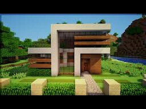 Casa simples e bonita minecraft pe youtube for Casa moderna en minecraft pe