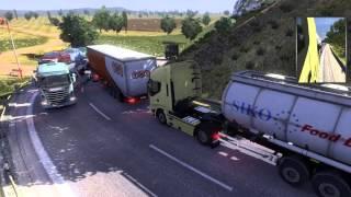 [FR][HD]Carrière suivie Euro Truck Simulator 2 /13 Enorme bouchon!