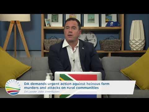 DA demands urgent action against heinous farm murders and attacks on rural communities.