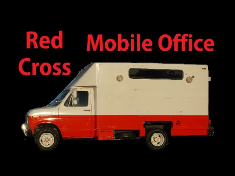 Red Cross Van Mobile Office Headquarters HQ Video ~ RV Conversion