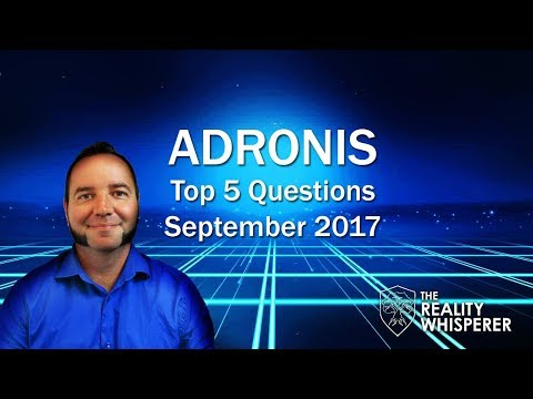 Adronis Top 5 Questions - September 2017