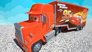 Red Mack Truck Stuck & Saved by Timko Kid | Lightning McQueen Cars Team Adventures