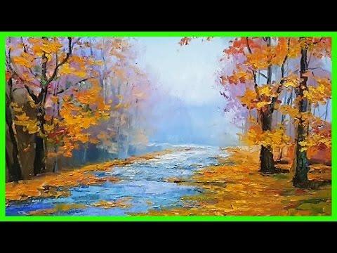 Живопись маслом картина Осенний Пейзаж МК А.Южаков +79857776200