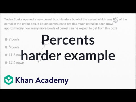 Percents — Harder Example | Math | New SAT | Khan Academy
