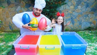 Öykü And Friend Pretend Play Treasure Hunting For Eggs Toy İn Gelli Baff!
