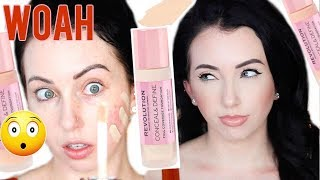 New! MAKEUP REVOLUTION FOUNDATION {First Impression Review & Demo!} Dry Skin 10 HR Wear Test