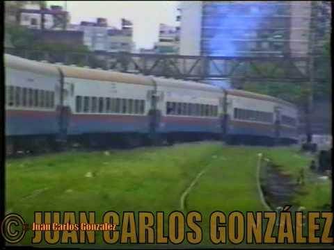 Tren General partiendo de la Estación Once