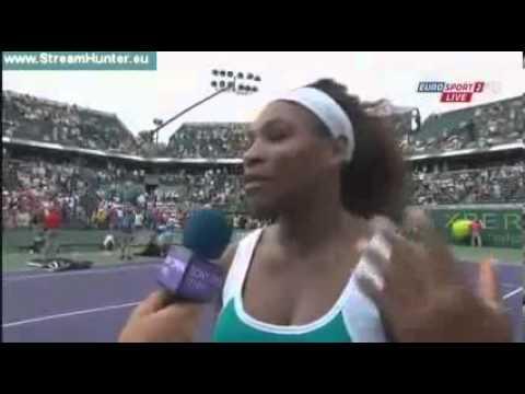 Serena Williams Post-Match Interview   Williams Vs Cibulkova 4th Round WTA Miami OPen 2013