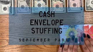Cash Envelope Stuffing | September Checks # 2 (combined incomes) | BudgetWithBri