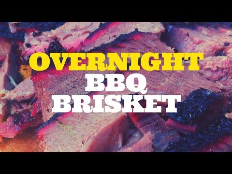 Overnight BBQ Smoked Brisket on the Weber Kettle Grill with the Slow 'N Sear