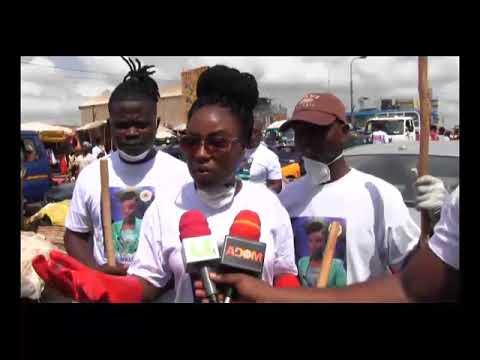 NADMO Ambassador Afia Adutwumwaa Cleans Nima Market