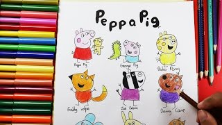How to draw and color PEPPA Pig