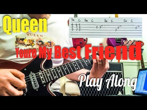 You're My Best Friend - QUEEN Live Killers - Guitar Play Along (Guitar Tab)