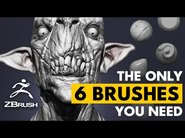 The Only 6 Brushes You Ever Need in ZBrush