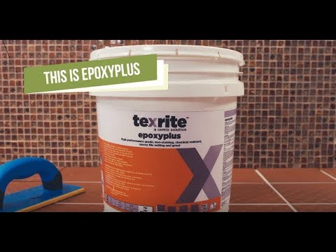 Epoxyplus: Water cleanable Epoxy Grout