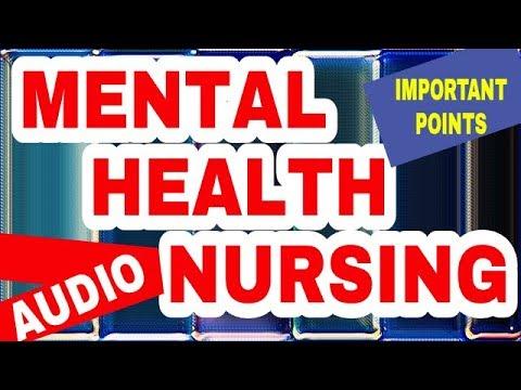 MENTAL HEALTH NURSING IMPORTANT POINTS AUDIO