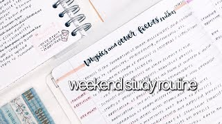 Weekend Study Routine || revisign