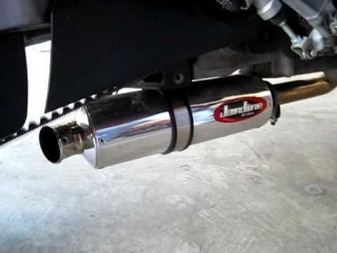 Buell blast jardine rt one exhaust youtube for Jardine exhaust