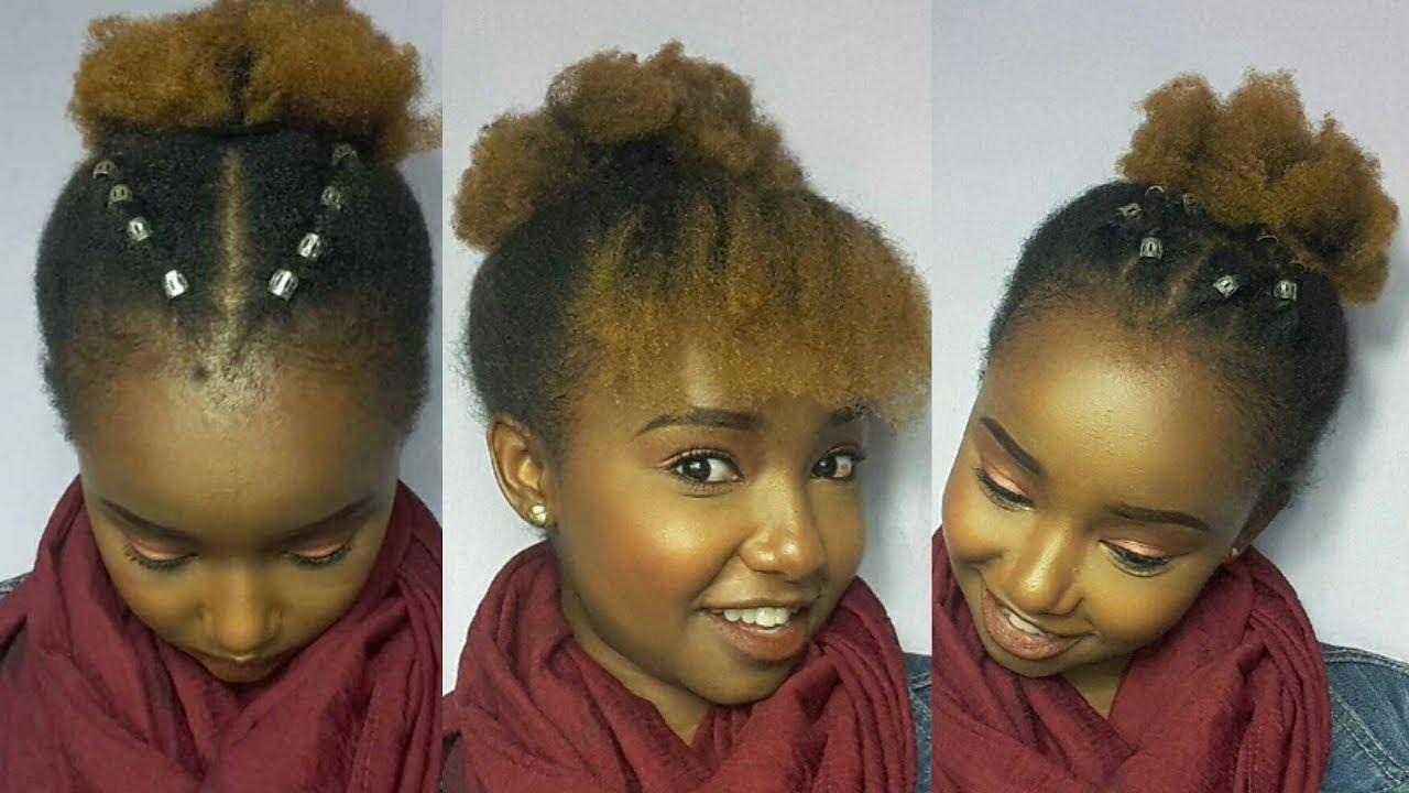 cute natural hair styles short