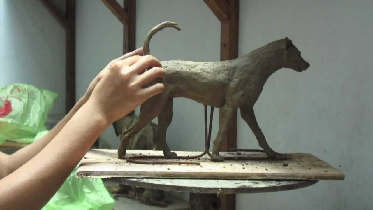Soda The Dog Clay Sculpture Step By Step K Barton