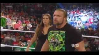 Brock Lesnar Confronts Triple H & Stephanie Mcmahon   WWE Raw 7 23 12 1000th Episode